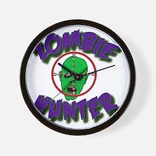 Zombie Hunter #1 Wall Clock