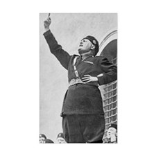 Benito Mussolini speaking to s Decal