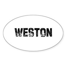 Weston Oval Decal