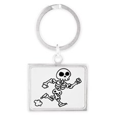 skeleton run Landscape Keychain