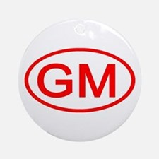 GM Oval (Red) Ornament (Round)