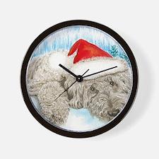 Christmas Labradoodle Wall Clock