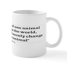 Saving the life of one animal Mug