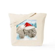 Christmas Labradoodle Tote Bag
