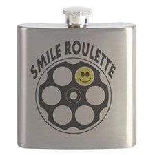 Loaded Smile Roulette Bullets Flask