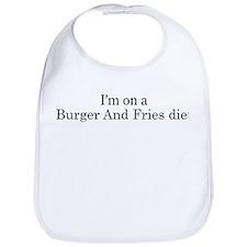 Burger And Fries diet Bib