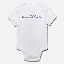 Burger And Fries diet Infant Bodysuit