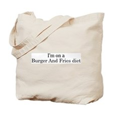 Burger And Fries diet Tote Bag