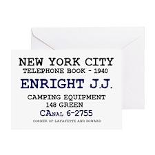 NEW YORK CITY TELEPHONE BOOK 1940 -  Greeting Card