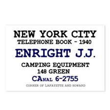 NEW YORK CITY TELEPHONE B Postcards (Package of 8)