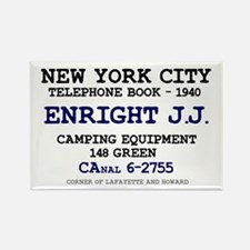 NEW YORK CITY TELEPHONE BOOK 1940 Rectangle Magnet