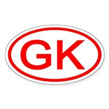 GK Oval (Red) Oval Decal