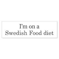 Swedish Food diet Bumper Bumper Sticker