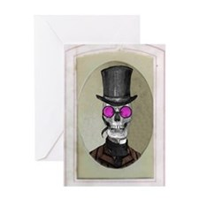 Victorian Portrait: Skull in a Topha Greeting Card