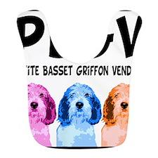 PBGV Pop Art Bib