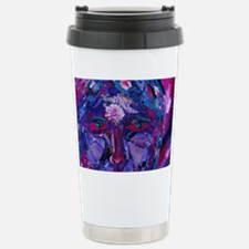 Sight, Abstract Magenta Stainless Steel Travel Mug