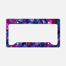 Sight, Abstract Magenta Godde License Plate Holder