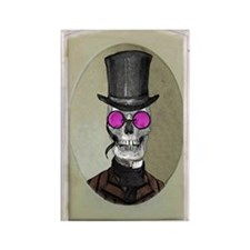 Victorian Portrait: Skull in Toph Rectangle Magnet