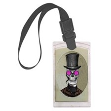 Victorian Portrait: Skull in Top Luggage Tag