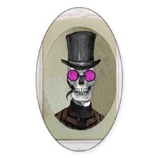 Victorian Portrait: Skull in Tophat Decal