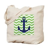 Anchor chevron Canvas Totes