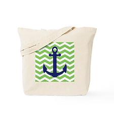 Chevron Anchor Shower Curtain Tote Bag