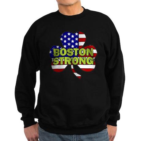 Boston Strong Shamrock Flag Sweatshirt (dark)