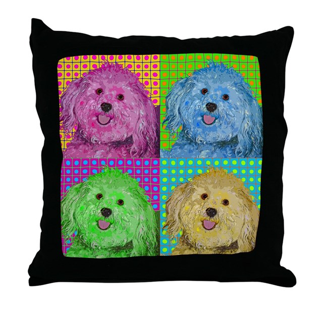 Zoe the Havanese Throw Pillow by poppetgifts