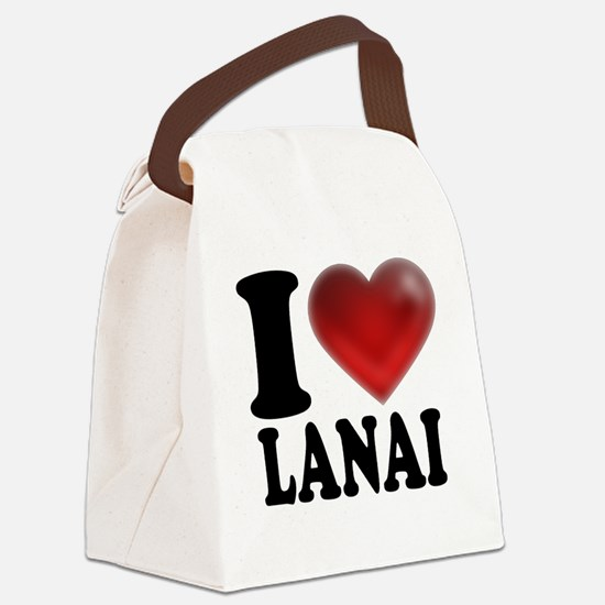 I Heart Lanai Canvas Lunch Bag