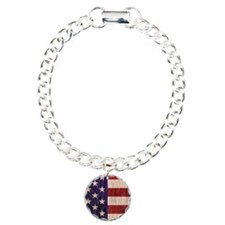 Stars and Stripes barnwo Charm Bracelet, One Charm