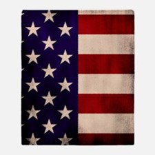 Stars and Stripes Artistic Throw Blanket