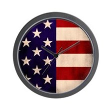 Stars and Stripes Artistic Wall Clock