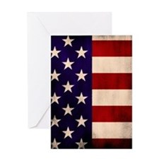 Stars and Stripes Artistic Greeting Card