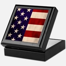 Stars and Stripes Artistic Keepsake Box