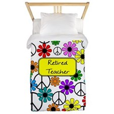 retired teacher iphone case yellow Twin Duvet