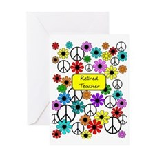 retired teacher iphone case yellow Greeting Card