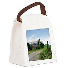 Rural Deserted Barn Canvas Lunch Bag