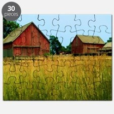Farm Field with Red Barns Puzzle