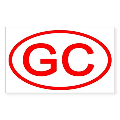 GC Oval (Red) Rectangle Sticker