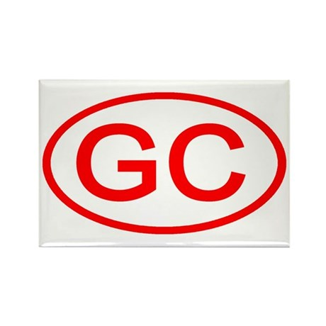 GC Oval (Red) Rectangle Magnet (10 pack)