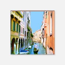 """Venice Canal Square Sticker 3"""" x 3"""""""