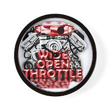 Wide Open Throttle - Supporter Shirt Wall Clock