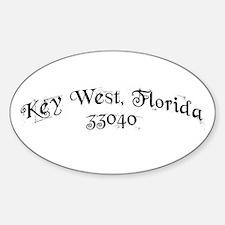Key West, Florida 33040 Oval Decal