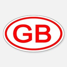 GB Oval (Red) Oval Decal