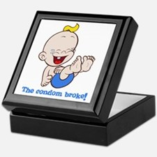 The condom broke Keepsake Box