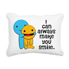 Make You Smile Rectangular Canvas Pillow