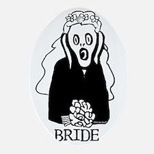 SCREAM BRIDE Oval Ornament