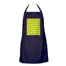 Yellow Retro Dots Apron (dark)
