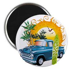 Cuba Surf Beach Car Magnet
