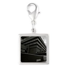 brutalism Silver Square Charm